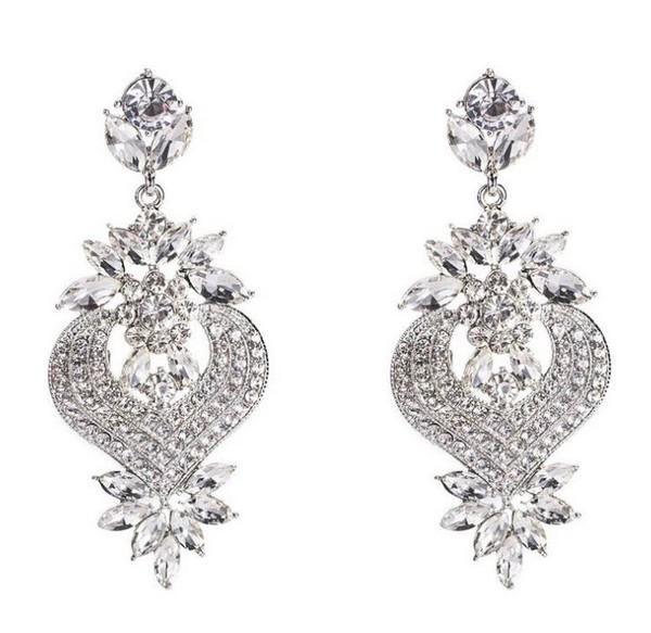 ต่างหูเกาหลีก้านเงิน S925 อะไหล่เงินห้อยระย้าสไตล์บารอก Baroque earrings ประดับเพชรงานอลังการ