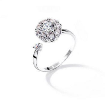 แหวนเพชรสวิส CZ หัวหมุนได้ปรับขนาดได้ ไซส์แนะนำ คือไซส์ 6-7