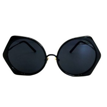 แว่นตากันแดดแฟชั่น Square head กรอบสีดำเลนส์ดำ