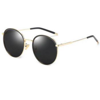 แว่นตากันแดดแฟชั่น Mizini กรอบสีทองเลนส์ดำ พร้อมส่ง