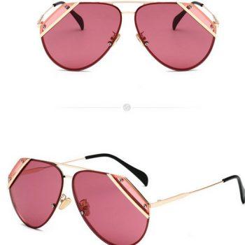 แว่นตากันแดดแฟชั่น Pink Alexander McQueen เลนส์ชมพู