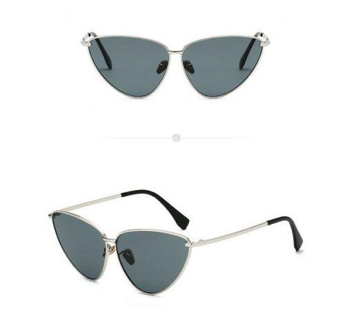 แว่นตากันแดดแฟชั่น มีทั้ง New Cat eyes Silver กรอบเงินเลนส์ดำ