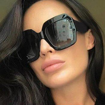 แว่นตากันแดดแฟชั่น REAL STAR Black กรอบดำเลนส์สีดำ