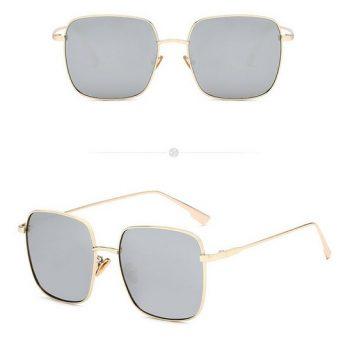 แว่นตากันแดดแฟชั่น Vintage square Black Mercury กรอบทองเลนส์ดำปรอท