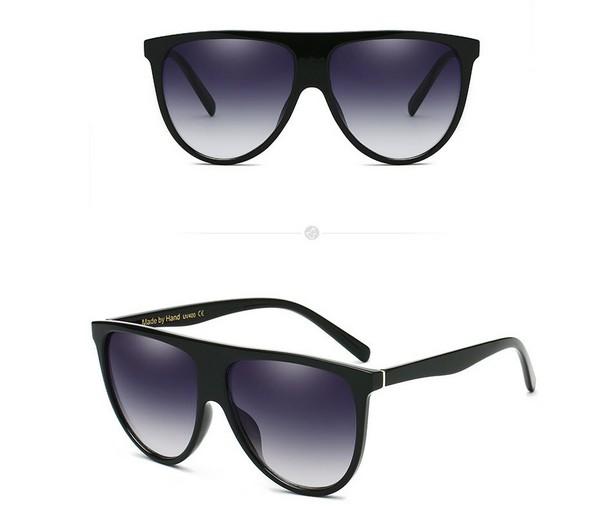 แว่นตากันแดดแฟชั่น Thin Shadow กรอบดำเลนส์สีดำ