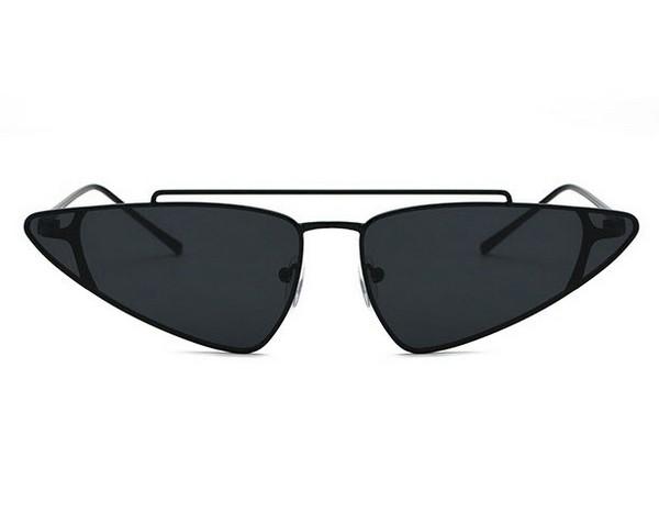 แว่นตากันแดดแฟชั่น Double Bridge Black กรอบดำเลนส์ดำ