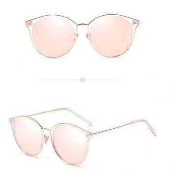 แว่นตากันแดดแฟชั่น Cat Eye Pink Gold Frame กรอบใสขอบทองเลนส์สีพิงค์โกลด์
