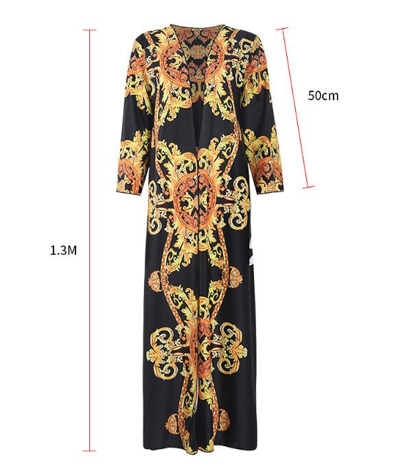 เสื้อคลุมบิกินี่ตัวยาวมีแขนสไตล์ VERSACE